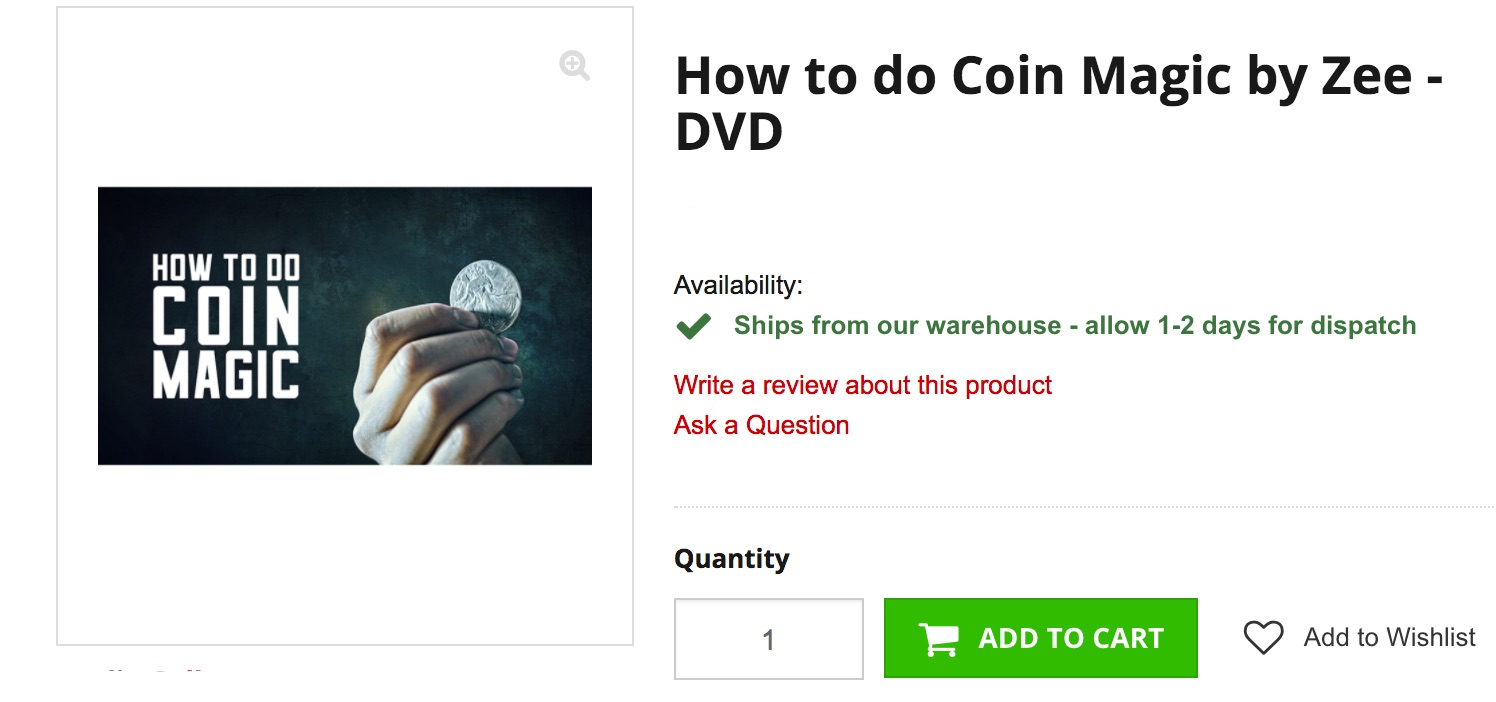 How to Do Coin Magic DVD