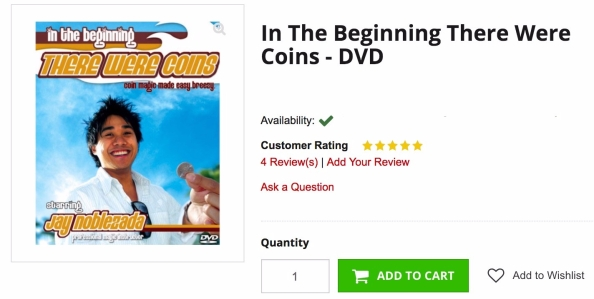 Order In the Beginning There Were Coins